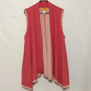 Ruby Rd Sleeveless duster pockets large